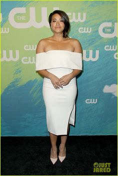 Gina Rodriguez at the CW Upfront 2016 Rose Mciver f92d17880