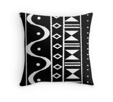 'Tribal Print Black/White' Throw Pillow by lifecycleprints Framed Prints, Canvas Prints, Art Prints, White Throw Pillows, Tribal Prints, Floor Pillows, Art Boards, Duvet Covers, Finding Yourself