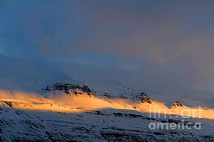 The last daylight over Eastern Icelandic Fjords.  Photographed by Julia Apostolova.