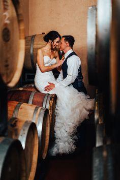 Barrel Room Snuggles Photography by Nugen Media Virginia Wineries, Tuscan Style, Indoor Wedding, Real Weddings, Winter Weddings, Wedding Pictures, Bride Groom, Photoshoot, Snuggles