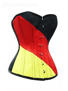 Ericdress Color Block Striped Lace-Up Corset Corsets, Bustiers