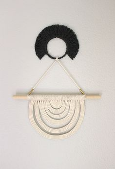 Macrame Wall Hanging Energy Flow no.33 by HIMO ART One by HIMOART