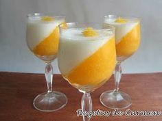 Pannacotta de mandarina y agua de azahar