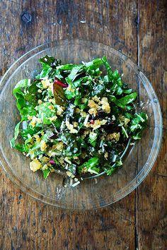 Swiss Chard Salad with Lemon, Parmesan & Breadcrumbs: Swiss Chard Has Never Tasted So Summery