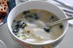 Vegetarian Dduk Gook (Korean Rice Cake Soup)