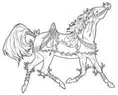 Carousel Horse Vines n Flowers by ReQuay.deviantart.com on @deviantART