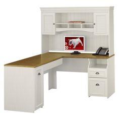 Fairview L Desk White Bush Industries