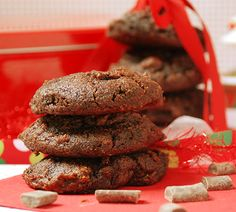 Multiply Delicious- The Food | Chewy Dark Chocolate Gingerbread Cookies