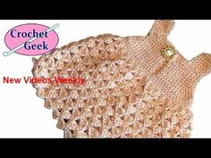How to make Cute Crochet Baby Dress Abigail #Lace Tutorial Free Online Class Art - YouTube