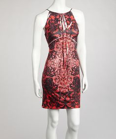 Take a look at this Red Embellished Cutout Dress by Boho Chic-LA on #zulily today! $34.99, regular 68.00
