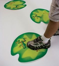 Instead of musical chairs, why not change it to musical lily pads instead?