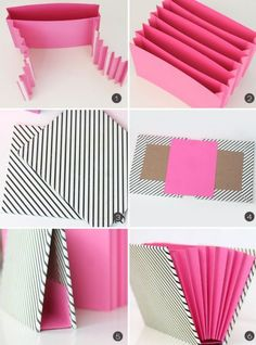 DIY Stationary Organizer diy craft crafts easy crafts craft idea diy ideas home diy easy diy home crafts diy craft classeur a soufflets Stationary Organization, Paper Organization, School Organization, Diy Stationary Storage Ideas, Organizing Crafts, File Folder Organization, Diy Paper, Paper Crafting, Diy Projects To Try