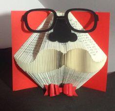 Book Folding Pattern for a Moustache by BookFoldingForever on Etsy