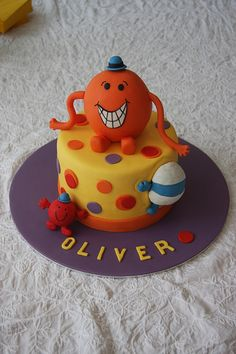Mr. Tickle birthday cake by Russ Weakley, via Flickr Mr Men and Little Miss cakes party kids boys girls birthday cupcake popcake cookies