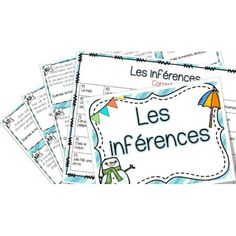 Les inférences - Cartes à tâches ! Word Work Activities, Speech Therapy Activities, Literacy Stations, Literacy Centres, Writing Centers, Inquiry Based Learning, Spanish Language Learning, Classroom Language, How To Speak French