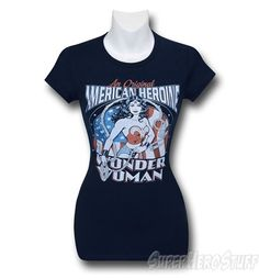 Images of Wonder Woman American Heroine Women's T-Shirt