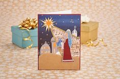Free nativity printables for card making or Bible journaling