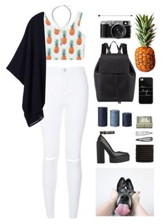 """""""pinapples"""" by deandelaina on Polyvore featuring Tory Burch, Monki, Mansur Gavriel, Casetify, women's clothing, women, female, woman, misses and juniors"""