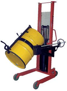 Drum Handling Equipment:  Manual Portable Drum LIfter/Rotator/Transporter. A vertical drum lifter is one of the most stable pieces of drum lifting equipment that you could require for your needs.   This heavy duty lifter clamps firmly onto the top of a standard 55 gallon drum
