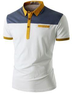 Doublju Men's Short Sleeve Pocket Polo Shirt (CMTTS016) #doublju