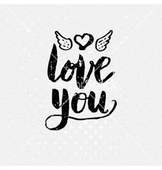 love you text on light background vector  by alevtina on VectorStock®