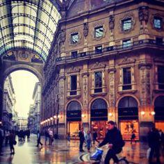 The elegant Galleria Vittorio Emanuele in Milan