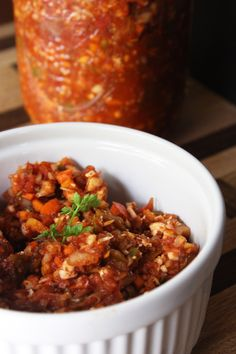 A sweet, spicyand savory fermented chili made purely fromfresh fragrant spices, herbs and veggies. In this ferment we bring together carrots, cauliflower, daikon radish, tomatoes, and red bell peppers to take on the texture of…