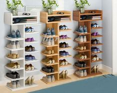 shoe rack ideas diy storage shelves ~ diy storage diy storage boxes diy storage ideas diy storage bench diy storage shed diy storage shelves diy storage cabinet diy storage ideas for small bedrooms Diy Storage Cabinets, Diy Storage Shelves, Diy Storage Bench, Shoe Storage Cabinet, Storage Hacks, Shoe Racks For Closets, Shelves For Shoes, Craft Cabinet, Shop Storage