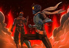Kamen Rider 3 VS. Kamen Rider 4 by adivider.deviantart.com on @DeviantArt