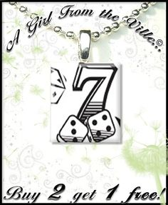 Lucky Number 7 EtsyFreeShipping by agirlfromtheville on Etsy - StyleSays Lucky 7, Lucky Number, Number 7, Personalized Items, Unique Jewelry, Handmade Gifts, Accessories, Etsy, Ideas