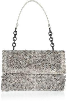 #handbags  Bottega Veneta Olimpia intrecciato ayers shoulder bag