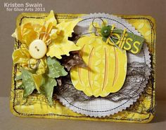 Lovely fall card made by Designer @Kristen Swain using #GlueArts and #Core-dinations products.
