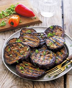 Balsamic Marinated Grilled Eggplant