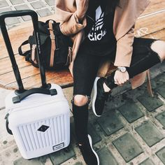 Travel in style with rolling luggage from Herschel Supply . -- Via Mafalda de Castro