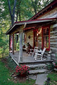 DIY Rustic Cabin Porch