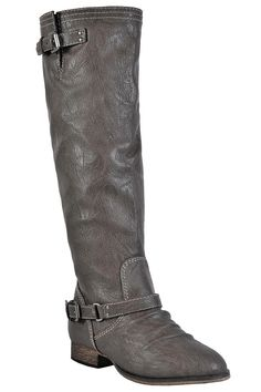ac27b1f04f Lily Boutique On The Red Line Zip Back Boot in Grey, $50 Grey Riding Boots