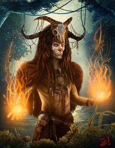 Risultati immagini per shaman fantasy art Fantasy World, Dark Fantasy, Fantasy Art, Fantasy Heroes, Fantasy Races, Vampires, Character Concept, Character Design, Ange Demon