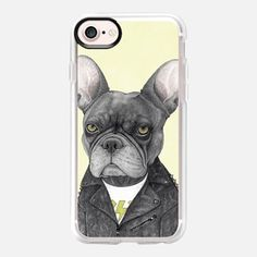 """Hard Rock french Bulldog"" by Barruf #case #iphone #frenchie #dog #cool #rock #casetify"