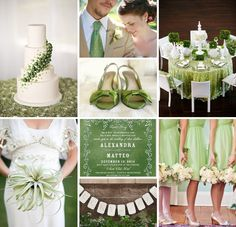 green and white  wedding | Green and White Wedding Inspiration :: On The Go Bride