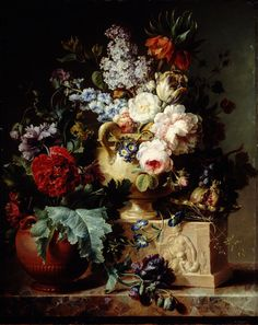 Cornelis van Spaendonck, Still Life of Flowers, 1793