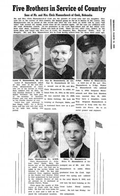 Cindy Lange-Kubick: Five brothers in service to their country, now gone : The Lincoln Journal Star Online