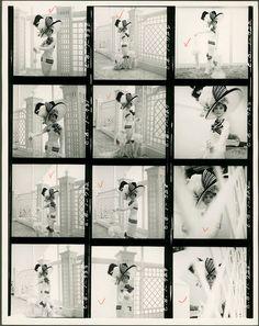 Ensaio fotográfico de Cecil Beaton com Audrey Hepburn para o filme 'My Fair Lady'.