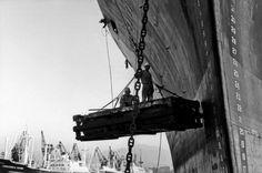 LISETTA CARMI - Lavori al bacino di carenaggio - 1964