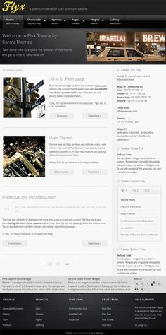 simple business style premium WordPress theme from Karma Themes