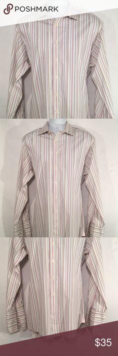 Charles Tyrwhitt White Classic Fit Non Iron Shirt 89cm French Cuff 15.5 X 39