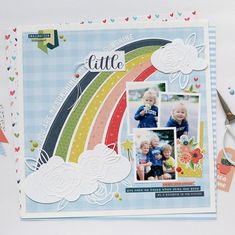 Echo Park Paper Co. (@echoparkpaper) • Instagram photos and videos Scrapbook Layouts, Scrapbooking, Echo Park Paper, You Make Me Happy, Papers Co, The Dreamers, Clouds, Photo And Video, Creative