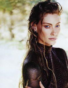 """Describe Aslaug in three words. Vikings Lagertha, Vikings Tv, Girl Face, Woman Face, Viking Makeup, Divas, Viking Wallpaper, Vikings Travis Fimmel, King Ragnar"