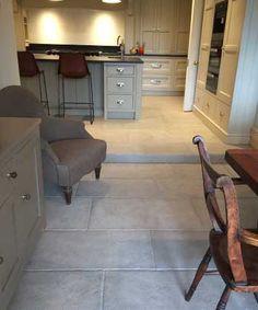 Grey natural stone tiles