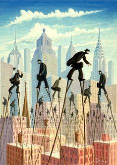 Eric Drooker illustration