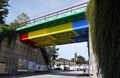 Faux Painted LEGO Bridge in Germany
